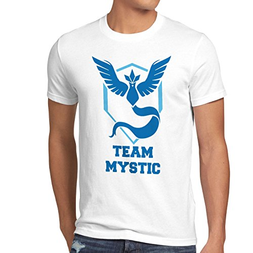 CottonCloud Team Mystic Herren T-Shirt Team Blau Blue Weisheit, Größe:XL, Farbe:Weiß