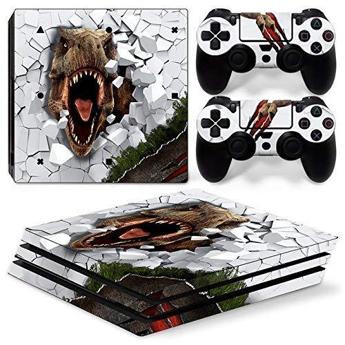46 North Design Ps4 Pro Playstation 4 Pro Pegatinas De La Consola T-Rex + 2 Pegatinas Del Controlador