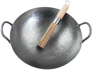 Wok, Pots De Cuisson Poêles Wok Poêle À Frire En Fer Poêle À Frire Profonde / Wok À Fond Rond / Fer Forgé Wok Poêles À Poê...