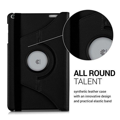 kwmobile Huawei MediaPad T1 10 Hülle - 360° Tablet Schutzhülle Cover Case für Huawei MediaPad T1 10 - Schwarz - 3