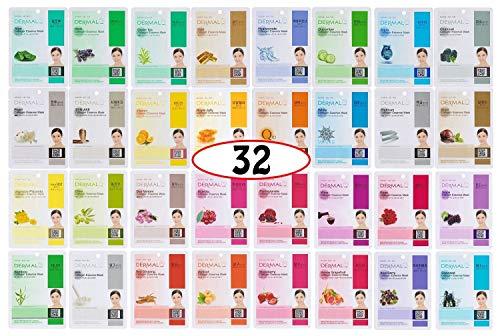 A+B Dermal Korea Collagen Essence Full Face Facial Mask Sheet 32 Full Color SET