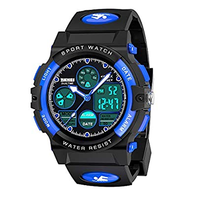 SOKY Gifts for Boys Age 6-15, LED 50M Waterproof Digital Watch for Kids Sports?Watches?Timer?with?Alarm Birthday Present Christmas New Gifts for 6-15 Year Old Boys Xmas Stocking Fillers SKUSW02