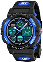 SOKY Gifts for Boys Age 6-15, LED 50M Waterproof Digital Watch for Kids SportsWatchesTimerwithAlarm Birthday Present Christmas New Gifts for 6-15 Year Old Boys Xmas Stocking Fillers SKUSW02