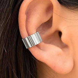 925er Ohrstulpe aus Sterling silber, Gold ohr manschette für nicht durchbohrtes Ohr, griechischer handgefertigter…