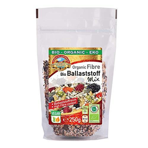 Mezcla de fibra de semillas orgánica 1.75 kg BIO semillas orgánicas con semillas de calabaza tostadas, semillas de girasol, mordiscos tostados Soja, linaza marrón y oro, sésamo blanco y negro 7x250g