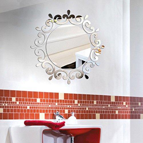 Fugift Home Decoration Stickers 3D Modern Mirror Wall Stightencker Art DIY Acryl Wandbild Aufkleber Home Room Decoration