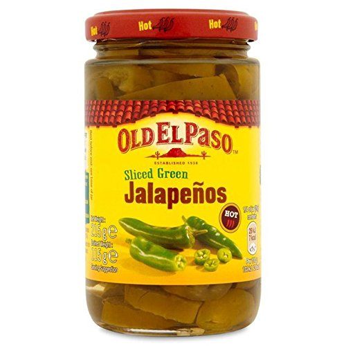 Old El Paso Sliced Green Jalapenos - 215g (0.47lbs)