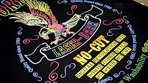 """Forever Brand Laser Dark No-Cut Low Temp Heat Transfer Paper 11"""" x 17"""" - 50 Sheets"""
