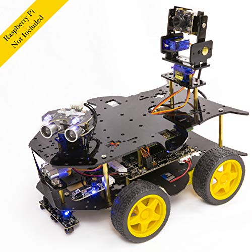 Yahboom Raspberry Pi Robot Kit for 4B / 3B+ Project with HD Camera, Programmable Robotice Truck with...