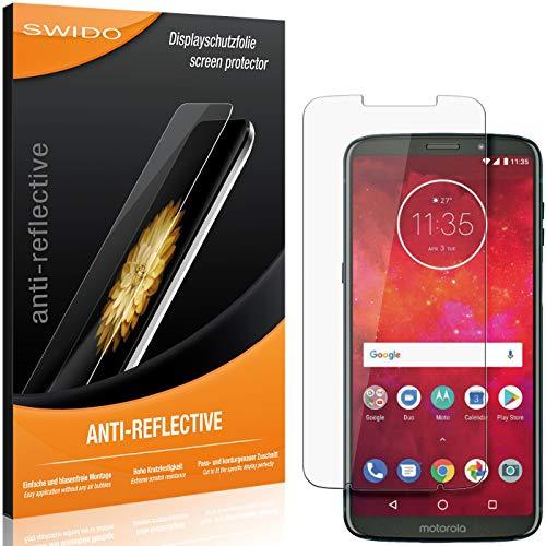 SWIDO Schutzfolie für Motorola Moto Z3 Play [2 Stück] Anti-Reflex MATT Entspiegelnd, Hoher Festigkeitgrad, Schutz vor Kratzer/Folie, Bildschirmschutz, Bildschirmschutzfolie, Panzerglas-Folie