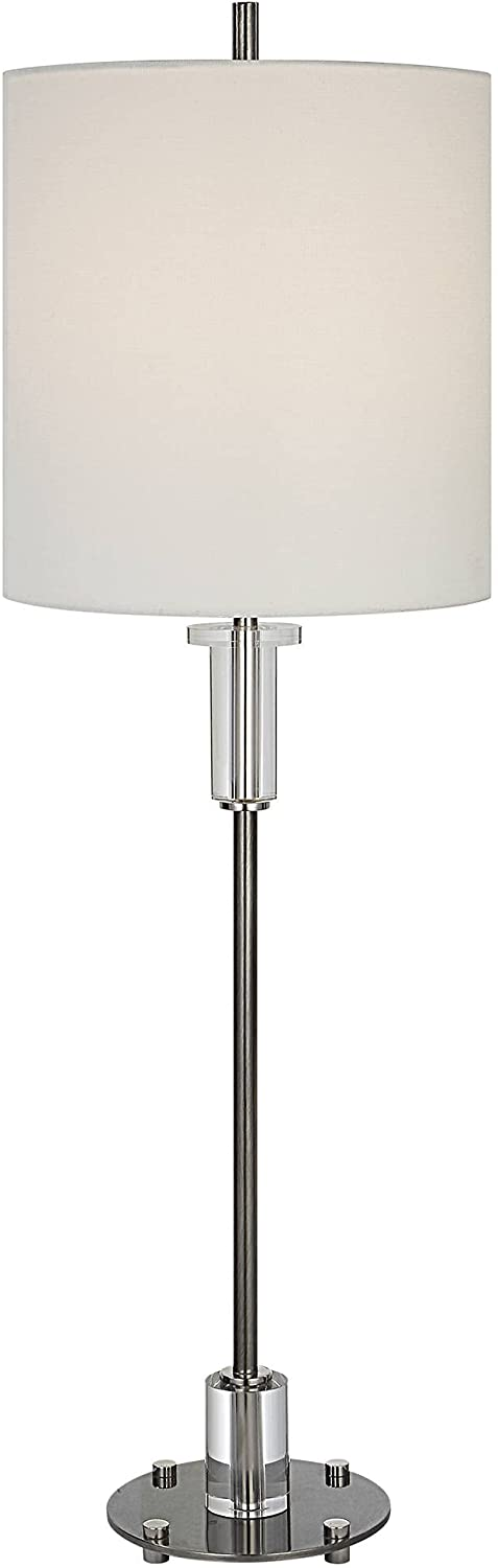 Uttermost Aurelia Save money Sale special price Luxe Nickel Lamp Buffet Crystal and
