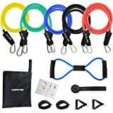 MORECOO Kit Fitness Bande d'Exercice Musculation Latex 12 PCS, Elastique Musculation...