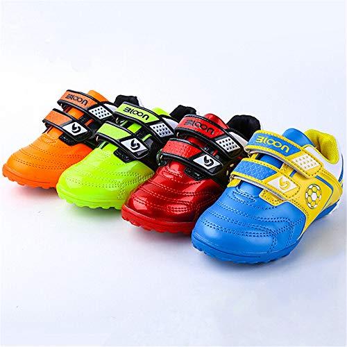 Supmico Kinder Jungen Fußballschuhe Sportschuhe Fußballschuh Nockenschuhe Kinder Schuhe Gr. 26-31