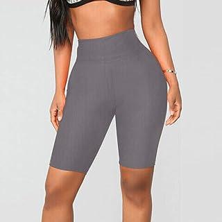 Summer Ladies Shorts Loose Casual Woman Plain Gym Bike Yoga Elastic High Waist Leggings Sports
