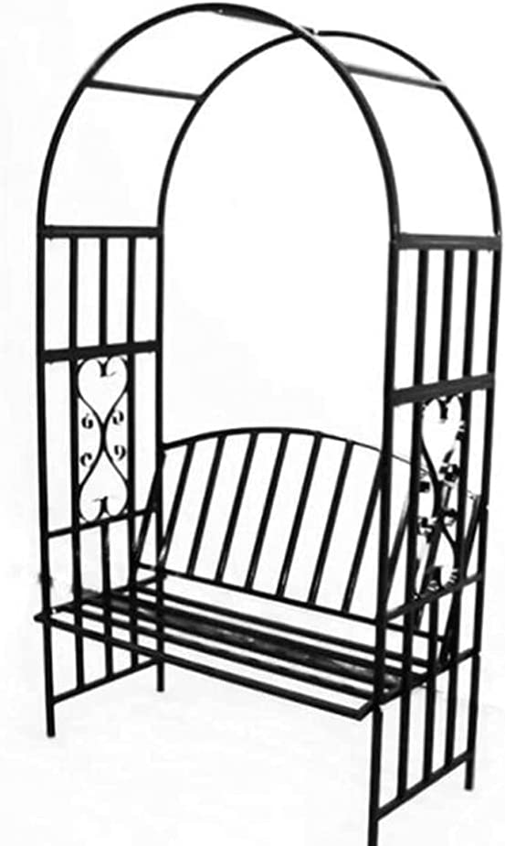 HJZY Garden Arch Trellis Brand Cheap Sale Weekly update Venue Metal Relaxi Arbor with Archway