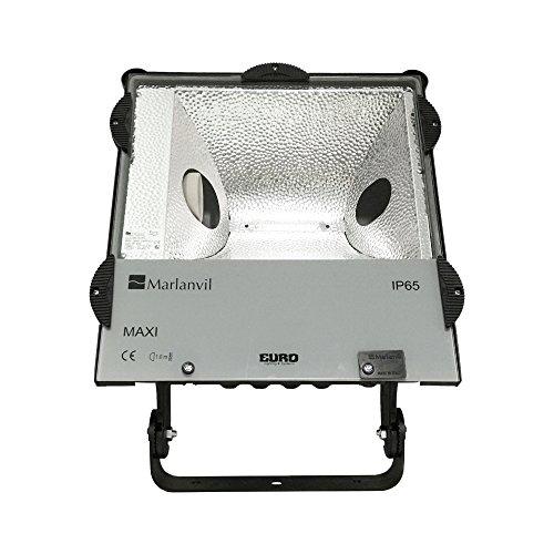 Flutlichtstrahler 400W HQI IP65 E40 Fluter Außenstrahler Flutlicht