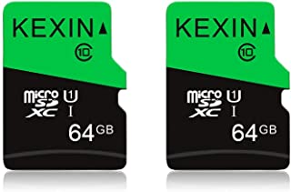 KEXIN 64GB Micro SD Card Micro SDXC UHS-I Memory Cards Class 10 TF Cards 64 GB High Speed Micro SD Cards, C10, U1, 2 Pack