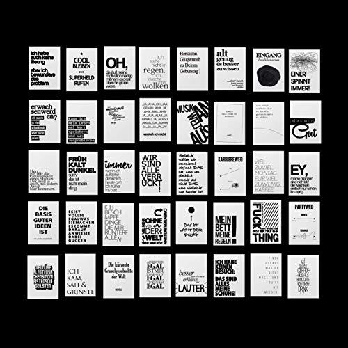 Paket 40 Postkarten mit lustigen Sprüchen, Cooles Design, Für jede Lebenslage: Motivation Arbeit Party Alter Stress Familie Gelassenheit & Liebe