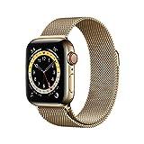 AppleWatch Series6 (GPS+Cellular, 40 mm) Caja de Acero Inoxidable en Oro - Pulsera Milanese Loop en Oro