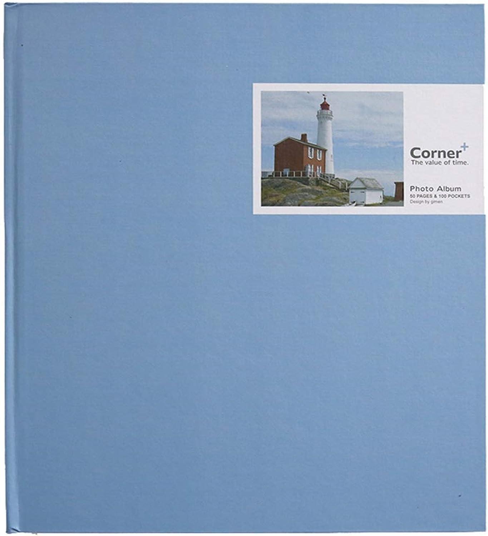 XZJDM álbum De Fotos DIY Interstitial, 100 6X4 Tarjeta blancoa Crecimiento del Bebé Expediente del álbum De La Graduación Fotos Amor del Turismo (Color  Azul)