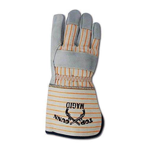 Magid Top Gunn TG824ELOGO Premium Cow Split Palm w/Cuff