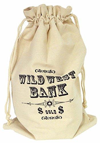 Bolsa de botín Western dólares 30 x 48 cm (x1)
