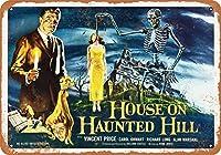 8 x 12 cm メタル サイン - 1959 年、映画「地獄へつゞくの家」 メタルプレートブリキ 看板 2枚セットアンティークレトロ