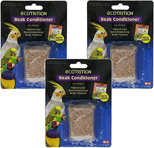 (3 Pack) Ecotrition Bird Beak Conditioner Block, Small
