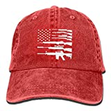 Party Socks Gun American Usa Flag Baseball Denim Hats for Men Women