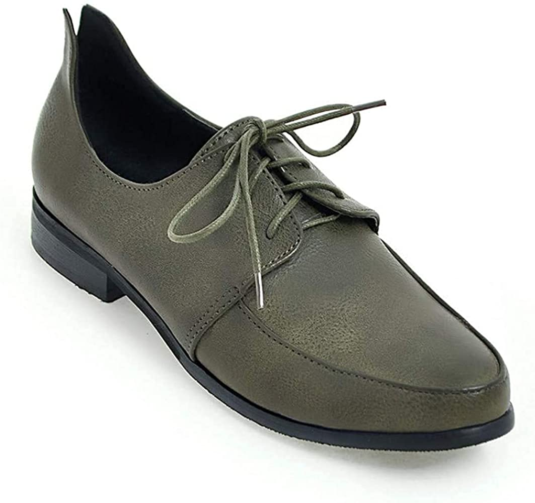 Womens Popular Chicago Mall product Low Heel Almond Toe Oxfords Leather PU Br Brogues Western
