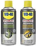 Wd 40 - Wd40 Specialist Motorbike - Pack Spray Limpiacadenas 400Ml + Grasa De Cadenas 400Ml Moto Motorcycle Accesories