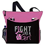 Fight Like a Girl Boxing Glove Tote Bag'Dakota' in Pink for Breast Cancer (Assorted Colors)