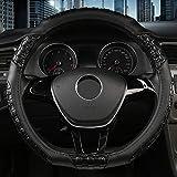 MDHANBK Couvre Volant de Voiture en Forme de D, pour Nissan Qashqai J11 x-Trail T32 Kia Sportage Optima Golf 7 Accessoires intérieurs de Voiture
