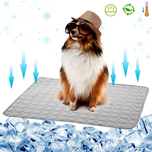 Dog Cooling Mat Pet Cooling Pad for Dog Cat Cooling Dog Mat Cooling Car Seat Cushion Summer Ice Silk...