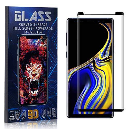 MelinHot Displayschutzfolie für Galaxy Note 9, Anti Fingerabdruck, Ultra Dünn Blasenfrei Schutzfolie aus Gehärtetem Glas für Samsung Galaxy Note 9, 3 Stück