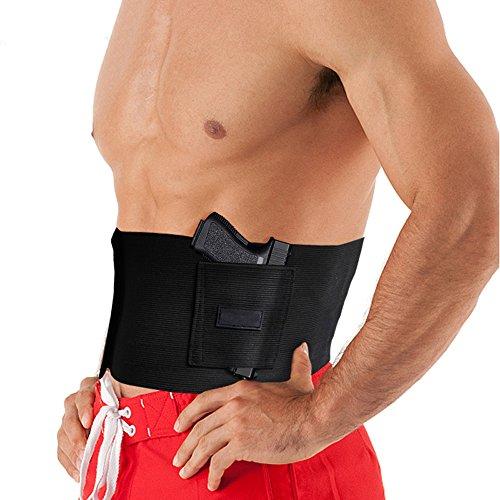 XXJKHL Holster for Concealed Carry Adjustbale Neoprene Waist Band Handgun Carrying System for Men and Women,Hand Gun Elastic Holder for Pistols Revolvers Glock Ruger Laser