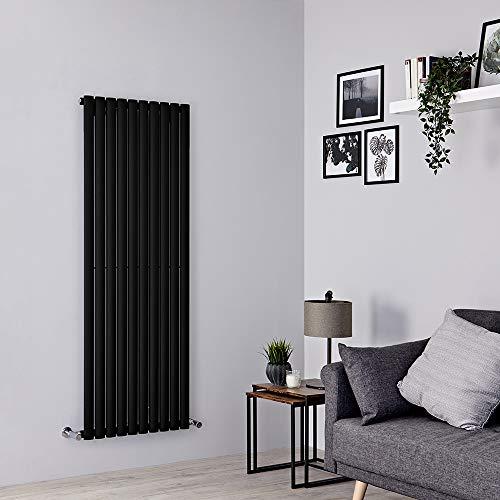 Milano Radiador de Diseño Revive Vertical - Negro - 1402W - 1600 x 590mm