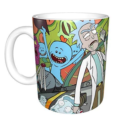 Taza de Bhutan - Taza de café de cerámica, utilizado para té caliente o bebidas heladas, taza de gran capacidad, color blanco