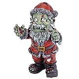 Christmas Decorations - Zombie Santa Claus Holiday Decor Zombie Apocalypse Statue