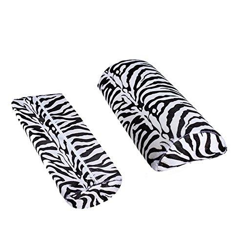 Zèbre Stripe Main Rest Doux Coussin Oreiller Nail Art Design Manucure Demi Colonne