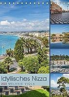 Idyllisches Nizza (Tischkalender 2022 DIN A5 hoch): Sehenswerte Orte - fantastische Impressionen (Monatskalender, 14 Seiten )