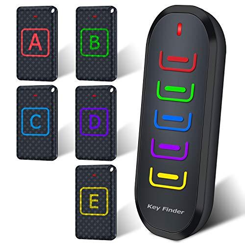 新型 5in1 キーファインダー Key finder 探し物発見器 落し物防止 忘れ物探知機 アラーム 紛失防止 大音量 LED キーホルダー付き 使用便利 小型 取扱説明書付き 旅行グッズ 高齢者 ブラック