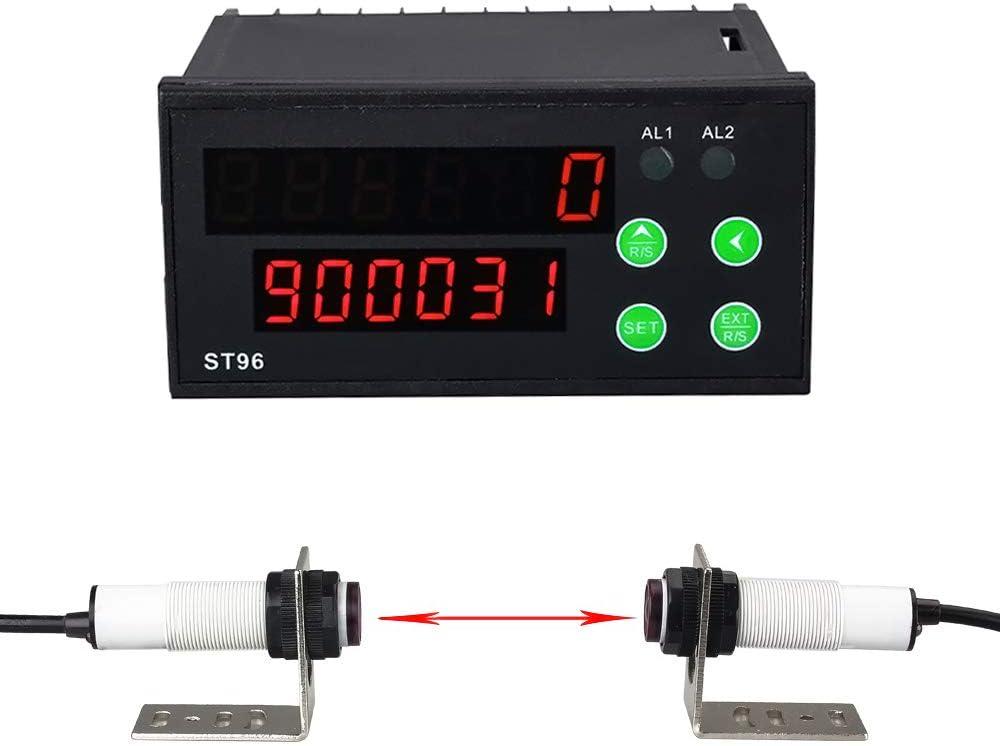 Fdit Medidor de Distancia por Infrarrojos LCD electr/ónico Tel/émetro de Rango Digital de Mano M/áximo 40 Metros Calculando autom/áticamente el Volumen del /área