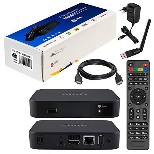 mag 322 Original Infomir / HB-Digital IPTV Set Top Box Multimedia Player...