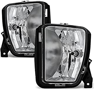 For 2013 2014 2015 2017 2018 Dodge Ram 1500 Pickup Truck Clear Bumper Fog Lights w/Bulbs