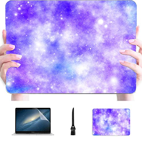 MacBook Case Starry Galaxy Universe Plastic Hard Shell Compatible Mac Laptop Cover Protection Accessories for MacBook with Mouse Pad