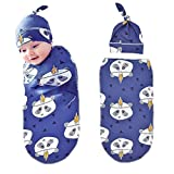 Winmany Newborn Baby Swaddle Receiving Blankets with Hat Infant Photography Prop Sleeping Bag Stroller Wrap (Cute Panada)