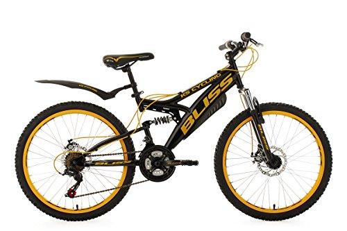 KS Cycling Jugendfahrrad Mountainbike Fully 24\'\' Bliss schwarz-gelb RH38cm