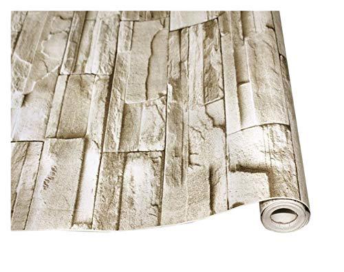 WHYBH HYCSP Stein abziehen und aufkleben Tapete Faux Brick Vinyl Selbst adhesiveWallpaper for Schlafzimmer Wohnzimmer Wand Home Decoration Aufkleber (Color : Brick Pattern, Size : 6mx45cm)