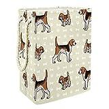 EZIOLY Cesta de lavandería para cachorros y zorros de caza con asas y soportes desmontables, resistente al agua, para organizar juguetes en la sala de lavandería, dormitorio